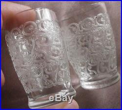 Baccarat Rare service de 8 gobelets cristal à liqueur Modèle GOUVIEUX ou ROHAN