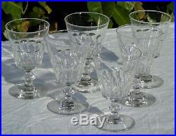 Baccarat / Saint Louis -Service de 6 verres à eau en cristal taillé modèle Caton