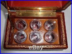 Baccarat Saké Set Service Verres Cave A Liqueur Whisky Livres Secret De Bureaux