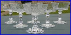 Baccarat Service 6 coupes à champagne en cristal, modèle Champigny