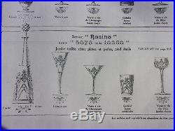 Baccarat Service Racine Paire Carafe De Fantaisie A Vin Du Rhin 40,5cm Cristal