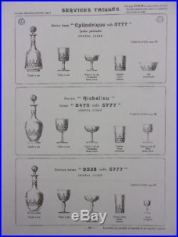Baccarat Service Richelieu 6 Grands Verres A Eau 15cm Cristal Taille Parfait