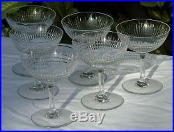 Baccarat Service de 6 coupes à champagne en cristal, modèle Nancy
