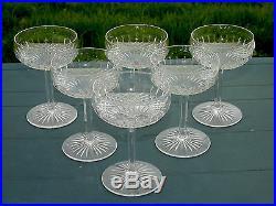 Baccarat Service de 6 coupes à champagne en cristal taillé, Catalogue 1916