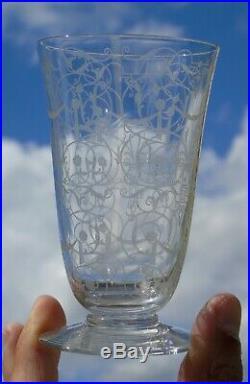 Baccarat Service de 6 flûtes à champagne en cristal Michel-Ange / Michelangelo