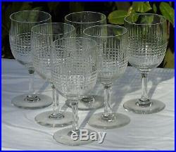 Baccarat Service de 6 verres à eau en cristal, modèle Nancy
