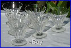 Baccarat Service de 6 verres à eau en cristal, modèle Rex