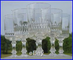 Baccarat Service de 6 verres à eau en cristal taillé