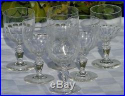 Baccarat Service de 6 verres à eau en cristal taillé, cat 1907