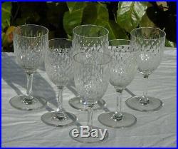 Baccarat Service de 6 verres à vin rouge en cristal, modèle Paris grain de riz