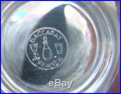 Baccarat Service de 6 verres en cristal mod. Michel-Ange / Michelangelo. H. 8,7