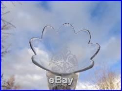 Baccarat Swirl Bambou Photophore Candlestick Bougeoir Flambeau A Verrine Cristal