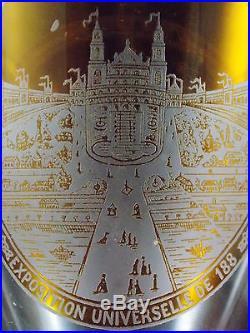 Baccarat Tres Rare Verre Exposition Universelle De 1889-trocadero Tour Eiffel
