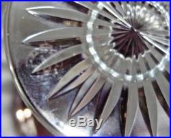 Baccarat Verre Cristal Couleur Mauve Hauteur 20 CM (estampille Baccarat)