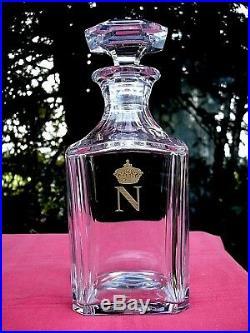 Baccarat Whiskey Gilt Decanter Carafe A Whisky Napoleon Empire Couronne Royale
