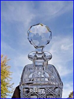 Baccarat Whiskey Wine Decanter Crystal Carafe A Whisky Cristal Taillé 19ème 801