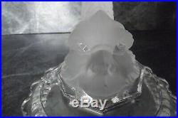Baccarat dauphin pied de lampe bougeoir chandelier dolphin
