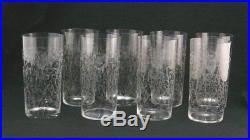 Baccarat modèle Lulli, cristal, 8 verres à orangeade, signés, parfait état
