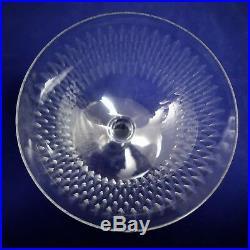 Baccarat, set 6 coupes à champagne en cristal, grain de riz signées