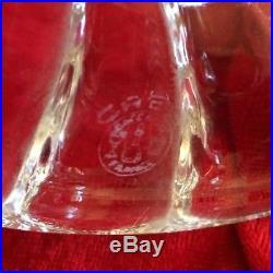 Baccarat superbe bougeoir cristal gravé arabesque signé