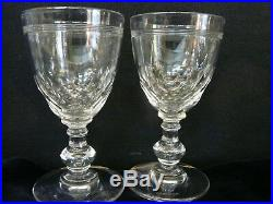 Bel ensemble 12 verres à vin rouge baccarat modele ecaille chauny cristal h 12cm