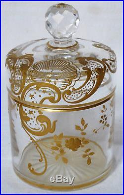 Boîte à poudre en CRISTAL DE BACCARAT, modèle Louis XV grand format