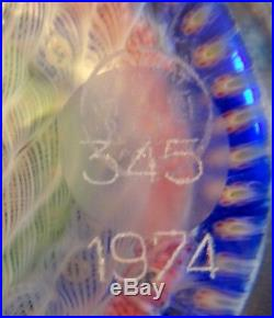 Boule Presse Papier Cristal Baccarat Sulfure Gridel 1974 Numerote + Certificat