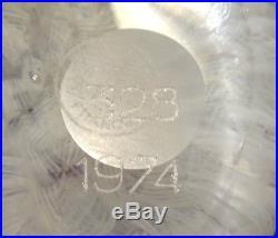 Boule Presse Papier Cristal Baccarat Sulfure Gridel Numerote Avec Sa Boite