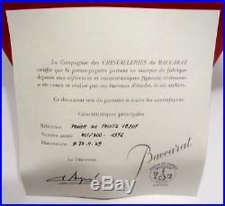 Boule Presse Papier Cristal Baccarat Sulfure Panier Fruits Numerote Certificat