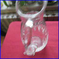 Broc à eau pichet en cristal de baccarat modèle Carcassonne signé 2/ 2