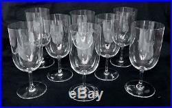 CRISTAL DE BACCARAT 8 verres à champagne, modèle PERFECTION, couronne de Baron