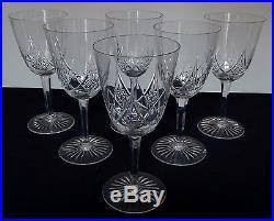 CRISTAL de BACCARAT 6 verres à eau modèle EPRON (18 dispos) 16,9cm