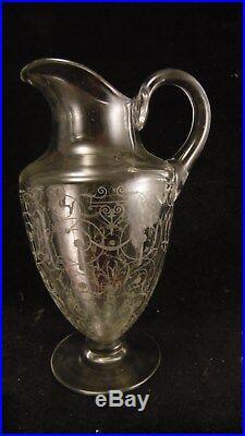 Carafe aiguière en cristal de Baccarat modèle Michelangelo