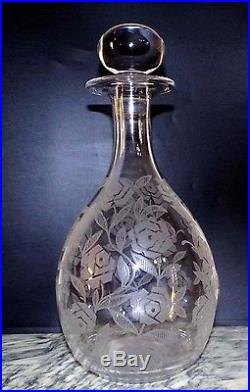 Carafe cristal Baccarat modèle Fontenay roses Art Déco