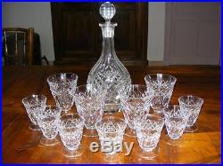 Carafe et verres en cristal signés Christofle, cristal Baccarat