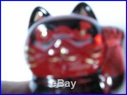 Chat porte bonheur en cristal de Baccarat Neuf dans sa boite d'origine