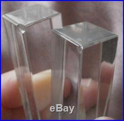Coffret 12 porte-couteaux en cristal incolore signés Baccarat 10 comme neufs