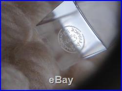 Coffret de 11 porte-couteaux en cristal incolore signés Baccarat