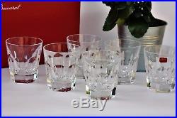 Coffret de 6 verres à whisky en cristal de Baccarat modèle Harcourt NEUF