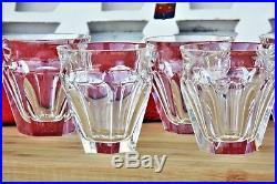 Coffret de 8 gobelets shots en cristal de Baccarat modèle Harcourt Talleyrand