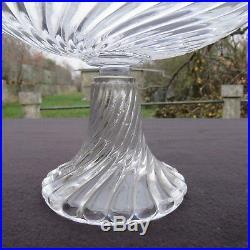 Coupe compotier en cristal de baccarat modèle bambou tors
