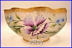 Coupe cristal art nouveau, dégagée à l'acide, émaillée, baccarat, montjoye, st louis
