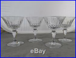 Cristal Baccarat 4 Coupes A Champagne Picadilly Hauteur Tbe