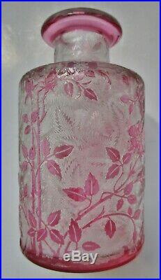 Cristal Baccarat FLACON églantier ART NOUVEAU 1900 Garniture de toilettes