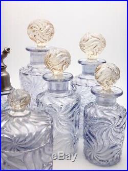 Cristal de BACCARAT Garniture de flacons de toilette 1900