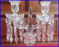 Cristal de Baccarat Bougeoir / Candélabre modèle Bambou Tors candelstick