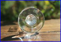 Cristal de Baccarat Capri Montaigne Optic 5 verres à vin blanc Signés Crystal