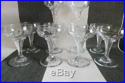 DIX Coupes Champagne Cristal Baccarat Champenoise Pied Creux