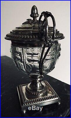 Drageoir Argent Doublé Et cristal De Baccarat Charles X Orfèvre C. Balaine