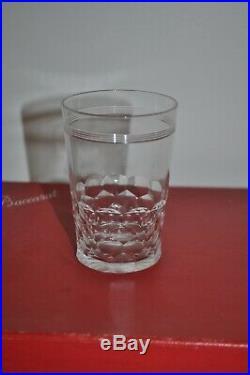 Ensemble de 6 verres baccarat modèle Chauny taille 9 cm